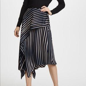 NWOT DVF draped asymmetric midi skirt 👗